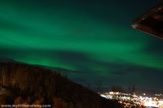 Tonight's sky was filled with the Northern Lights. The picture above was taken from our balcony at around 7:30pm. The view is to the North and as you can see the city lights do not compare with the big green monster in the sky.read more...