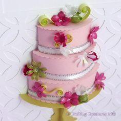 Beautiful - 3D Cake Card.