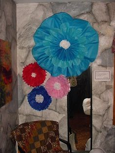 More Large Tissue Paper Flowers