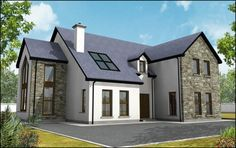 Plan a home. Dormer House, Dormer Bungalow, House Designs Ireland, Self Build Houses, Two Story House Plans, Bungalow Renovation, Dream House Exterior, House Exteriors, Bungalow House Design