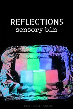 Best Toys 4 Toddlers: Amazing sensory bin to explore light and reflections with toddlers and preschoolers. And it's really simple to set up! Fun Activities For Kids, Sensory Activities, Infant Activities, Kindergarten Activities, Preschool Science, Kids Fun, Sensory Tubs, Sensory Rooms, Sensory Bottles