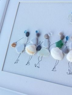 Sea Glass Crafts, Sea Glass Art, Sea Art, Seashell Art, Seashell Crafts, Pebble Art Family, Stone Crafts, Birthday Woman, Arts And Crafts Movement