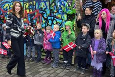 Princess Mary of Denmark in a school in Copenhagen for the International Day of Children's Rights.
