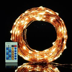 XTCLB LED String Lights Flexible Copper Wire Lights 99ft/30m 300LEDs Waterproof…