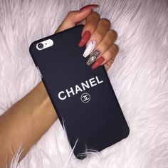 Nails, chanel, and iphone image girly phone cases, iphone cases bling, phon Girly Phone Cases, Mobile Phone Cases, Iphone Phone Cases, Mobiles, Telefon Apple, Telephone Iphone, Accessoires Iphone, Coque Iphone 6, Phone Gadgets