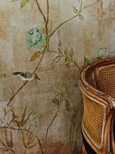 Chinoiserie by Sidney Paul & Co - Gold - Mural : Wallpaper Direct