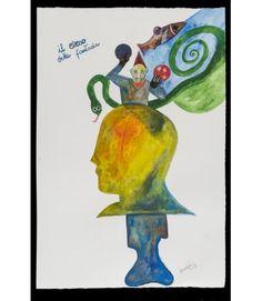 Fantastico circo - Livin'Art di Fabrizio Barsotti Acquarello su carta cm 56x38