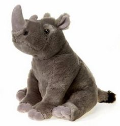 "10"" Sitting Rhino Plush Stuffed Animal Toy - New #Fiesta"