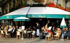 O Café Deux Magots é um dos mais célebres e frequentados por turistas na Rive Gauche de Paris