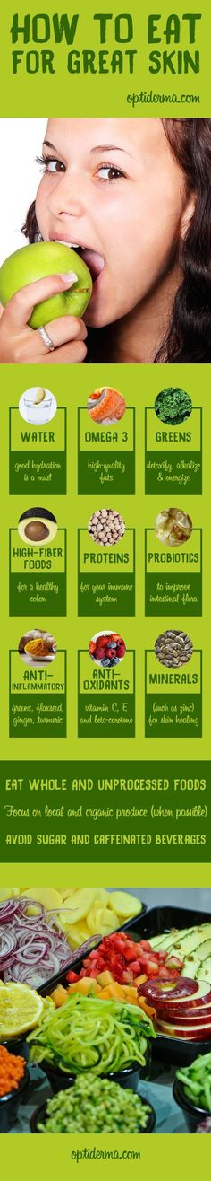 The key to healthy skin: improve your diet!