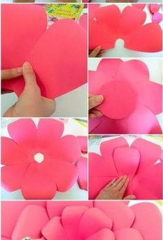 how to make easy diy giant paper flowers, crafts, gardening, how to