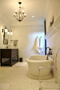 Master Bath Makover  Via Look Linger Love: My Home Tour On Made By Girl