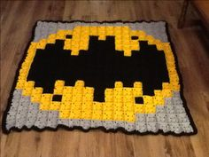 Batman granny crochet blanket by france pellerin More