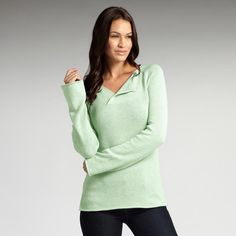 Women's organic cotton pullover sweater. The Turning Leaf. Fair trade, ethical fashion from INDIGENOUS. Lime.