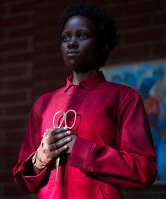 """Jordan Peele's """"Us"""" is the most talked-about movie of the year, and now pundits are wondering whether Lupita Nyong'o has a real shot at an Oscar nomination. Elizabeth Moss, Hits Movie, Movie Tv, Most Popular Halloween Costumes, Halloween Items, Christmas Costumes, Teenage Warhead, Jordan Peele, This Is Us Movie"""