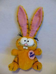 GARFIELD the CAT EASTER Garfield 1981 Bunny by MaggiesKlosets