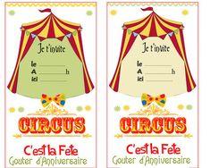 invitations Circus Birthday, Circus Party, Birthday Parties, Happy Birthday, Happy Day, Printables, Invitations, Fun, Kids