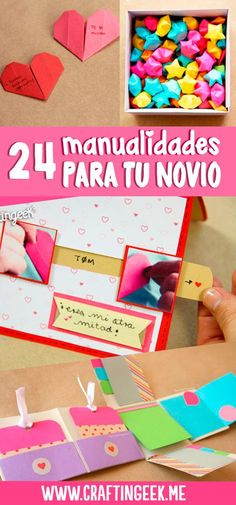 24 manualidades para tu novio o novia Diy For Teens, Diy For Kids, Love Gifts, Diy Gifts, Ideas Aniversario, Surprise Gifts For Him, Diy And Crafts, Paper Crafts, Diy Paper