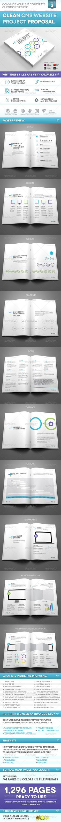 Clean And Professional Cms Website Project Proposal On Behance