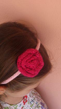 Blooming Rose Hairband Blooming Rose, Hair Band, Knits, Knitting, Tricot, Breien, Weaving, Stricken, Stricken