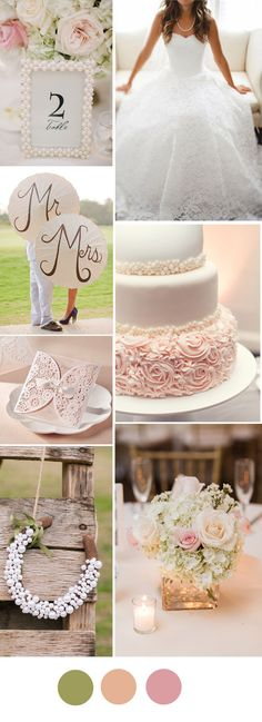 wedding ideas with vintage pearl and lace