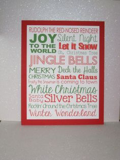 8x10 Christmas Holiday Subway Art Word Art Home by GlitterInkCards, $6.00