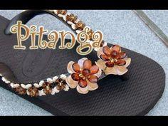 Chinelo decorado: Flor de pedraria passo-a-passo - YouTube                                                                                                                                                                                 Mais