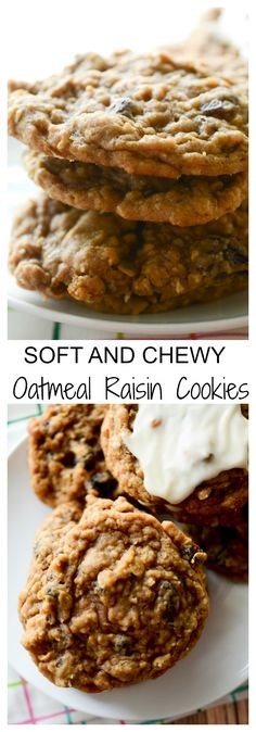 Soft and Chewy Oatmeal Raisin Cookies - Recipe Diaries http://samscutlerydepot.com/product/sandy-mertens-celebrations-wedding-cress-fabric-picture-aprons/