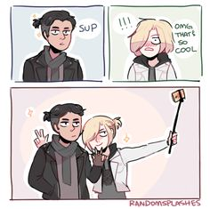 Original work by randomsplashes.tumblr.com || Yuri Plisetsky | Otabek Altin | Yuri on Ice | YOI