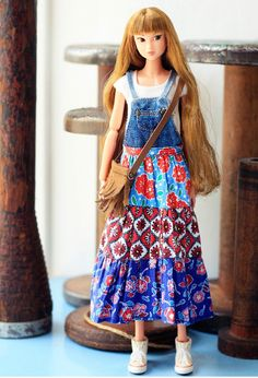 Sugarbabylove - Jean onepiece set  for Momoko by SugarbabyloveDoll on Etsy https://www.etsy.com/listing/254787092/sugarbabylove-jean-onepiece-set-for