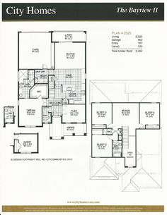 Windermere Terrace City Homes Bayview II Floor Plan in Windermere FL