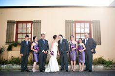 Jewish Wedding Party, Purple Bridesmaids - mazelmoments.com