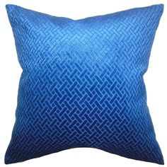 Brielle Solid Blue Velvet Down Filled Throw Pillow - Overstock™ Shopping - Great Deals on PILLOW COLLECTION INC Throw Pillows