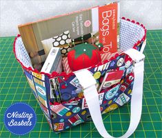 Set of Three Nested Sewing Baskets with Vintage Accents | Sew4Home
