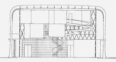 Maison Suspendue (Suspended House)  1936-1938 (Unbuilt)  Architect: Paul Nelson