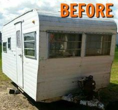 When a family of 6 asked her to decorate their camper, she cleans it up, but then she does THIS! So cute! | camper makeover | camping trailer makeover | camper renovation | camping trailer renovation