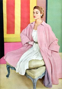 Jean Patchett 1950s Pink Coat