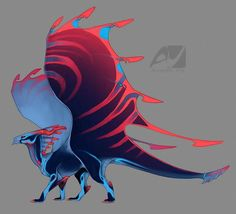 Dragon design by AverrisVis on DeviantArt Creature Concept Art, Creature Design, Magical Creatures, Fantasy Creatures, Fantasy Dragon, Fantasy Art, Manga Dragon, Mystical Animals, Cute Kawaii Animals