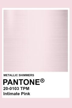 Intimate Pink #Metallic #Pantone #Color