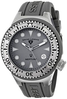 Men's Wrist Watches - Swiss Legend Unisex 11044DPHT14 Neptune Analog Display Swiss Quartz Grey Watch ** Details can be found by clicking on the image.