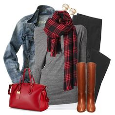 A fashion look from December 2014 featuring grey long sleeve shirt, americana shirts and madewell jacket. Browse and shop related looks. Mode Outfits, Casual Outfits, Fashion Outfits, Fashion Trends, Fall Winter Outfits, Autumn Winter Fashion, Winter Wear, Women's Casual Looks, Jean Jacket Outfits
