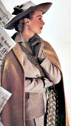 Maurine Zellman in Lord & Taylor, Harper's Bazaar, March 1943