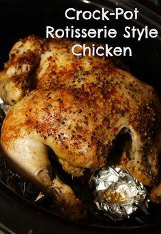 Crock-Pot Rotisserie Style Chicken