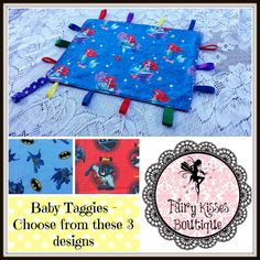 Taggies with toy/teether straps