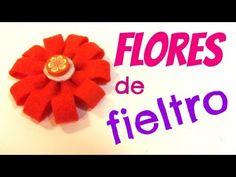Tutorial: Flores de fieltro. Felt flowers.