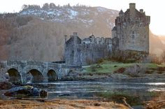 Eileen Donan castle, ancient seat of clan Mackenzie. For the Diana Gabaldon-Outlander fans! Outlander will be a tv series on Starz in the Spring 2014. There are multiple pic here.