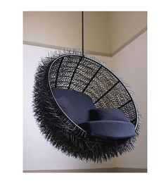 Sea Urchin Lounge Chair by oooms. This lounge chair is the ideal spot to commit your lazy sunday afternoon reading a book. The inside of the chair is Canapé Design, Chair Design, Interior Design, Creative Design, Swinging Chair, Cool Chairs, Lounge Chairs, Swing Chairs, Rocking Chairs