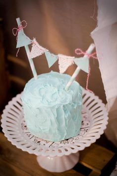 Kara's Party Ideas Cookies and Milk Vintage Shabby Chic Birthday Party Planning Ideas Twin First Birthday, First Birthday Parties, Birthday Ideas, Birthday Stuff, Fairy Mermaid, Shabby Chic 1st Birthday Party, Aqua Cake, Twins 1st Birthdays, Milk Cookies