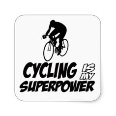 Cool Cycling designs Stickers.