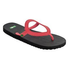 Sanuk Women's Ibiza Flip Flops - Vegan friendly with a comfy rubber footbed, these sweet sandals are ready to embrace the day and take on the night